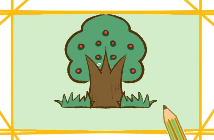 好看的果树简笔画教程步骤图片