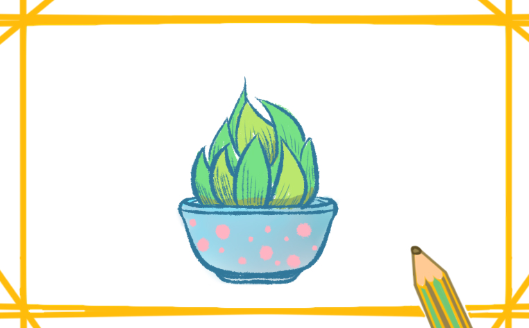 一步一步教你画漂亮的植物简笔画
