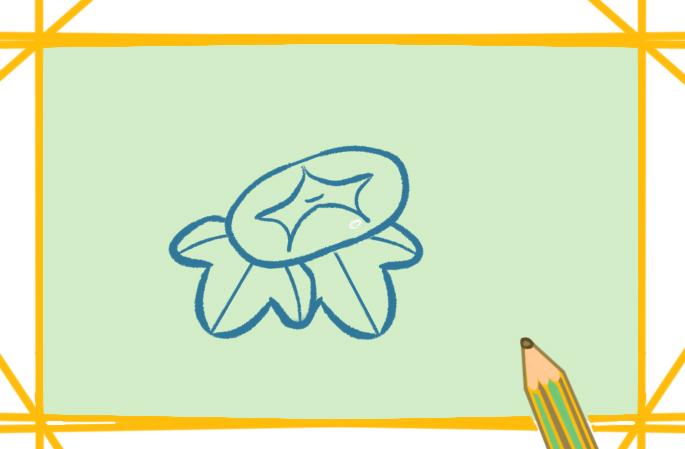 简单的牵牛花上色简笔画要怎么画