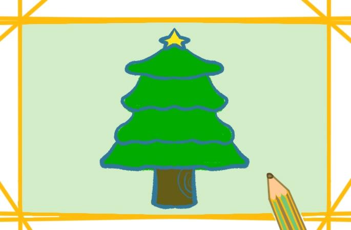 圣诞树手绘简笔画图片大全-手绘圣诞树图片简笔画