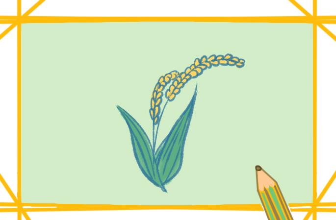 农作物之小麦上色简笔画要怎么画