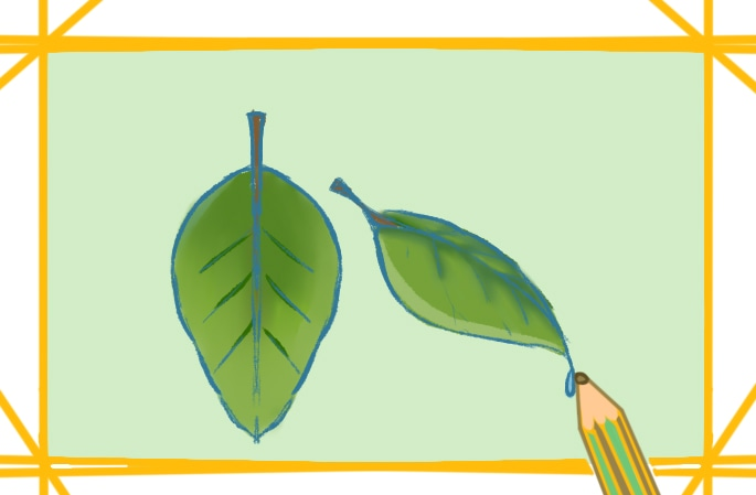 简单好看的叶子简笔画图片小学生教程