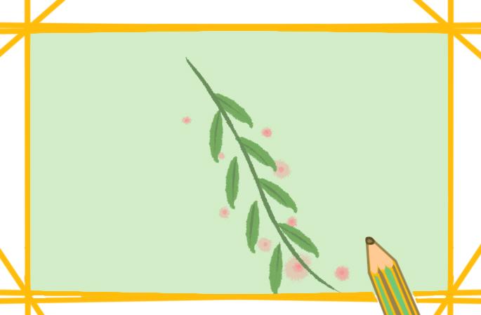 漂亮的柳叶上色简笔画要怎么画
