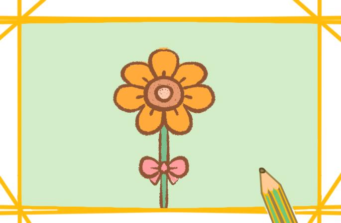 好看的太阳花简笔画带颜色怎么画