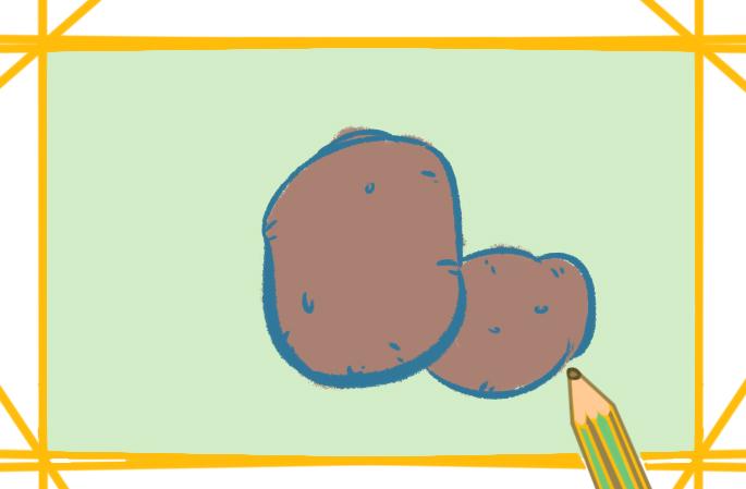 简单的土豆简笔画图片怎么画
