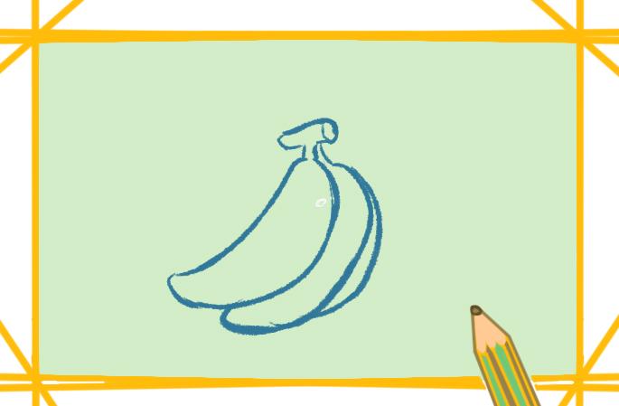 黄色的香蕉上色简笔画要怎么画