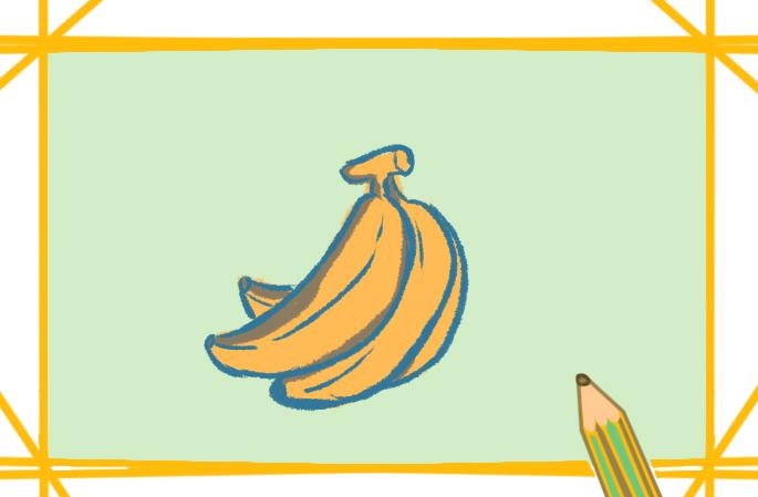 简单好看的香蕉上色简笔画要怎么画