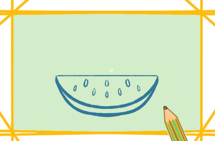 好看的大西瓜简笔画图片怎么画