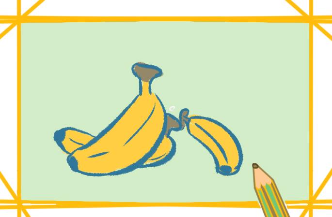 简单的香蕉简笔画图片怎么画