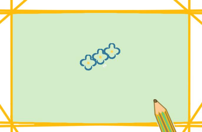 好看的绣球花上色简笔画要怎么画