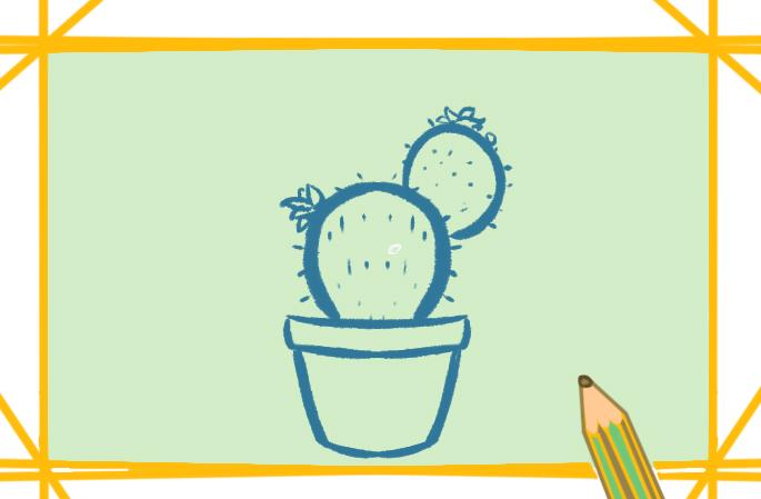 好看的仙人掌简笔画图片怎么画