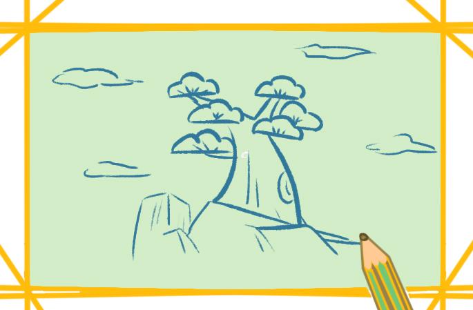 好看的松树简笔画图片怎么画