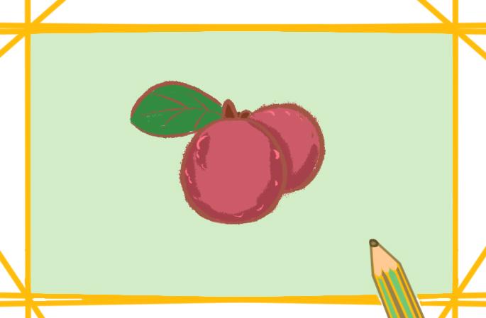 水果之杨梅上色简笔画要怎么画