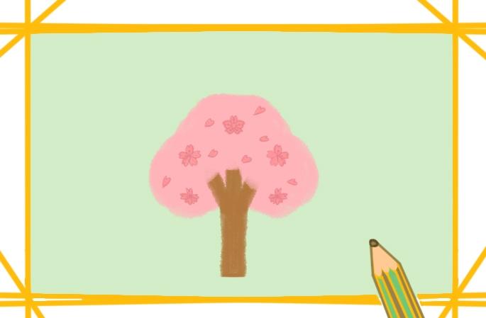 漂亮的樱花简笔画图片怎么画