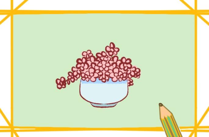 漂亮的花盆简笔画图片怎么画
