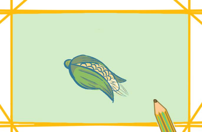 简单的玉米简笔画图片怎么画