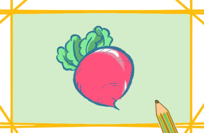 简单的萝卜上色简笔画要怎么画
