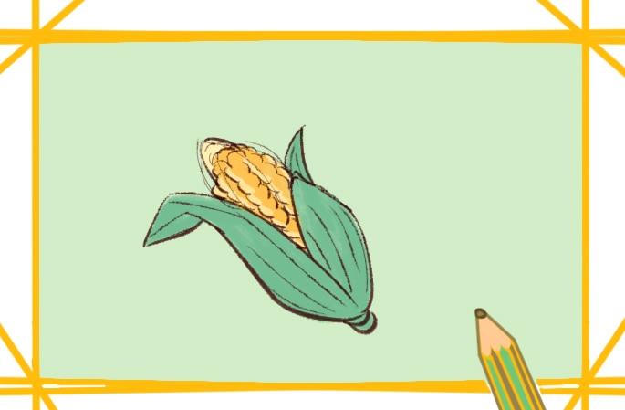 美味的玉米简笔画图片怎么画