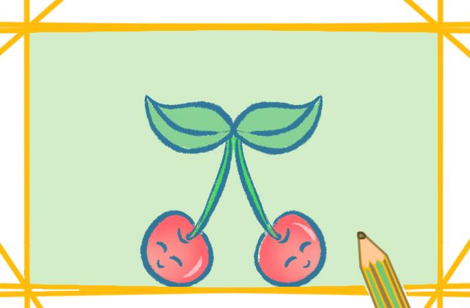 可爱的樱桃简笔画图片怎么画