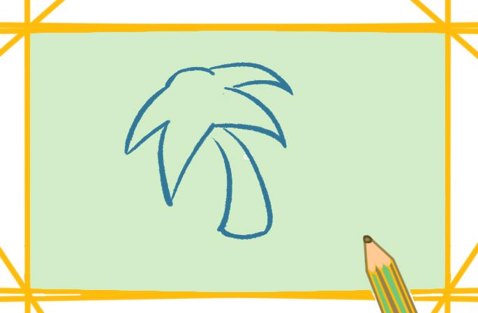 南国椰子上色简笔画要怎么画