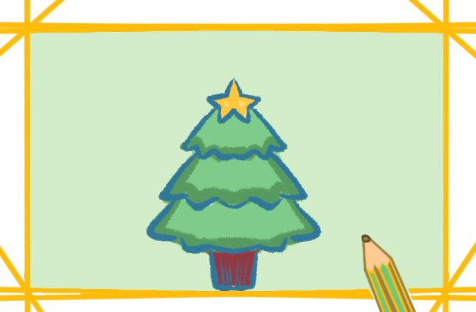 一步一步教你画圣诞树教程