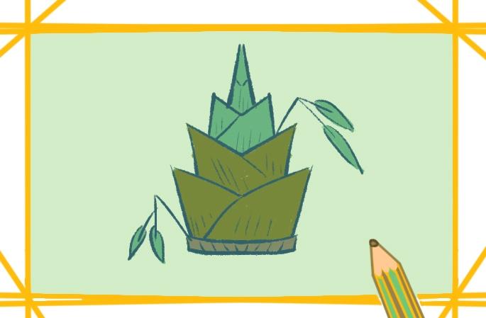 好看的竹笋简笔画图片怎么画