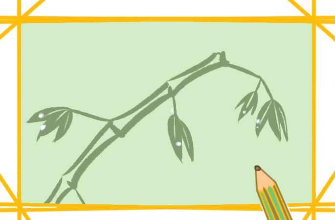 简单的竹子简笔画步骤图片怎么画