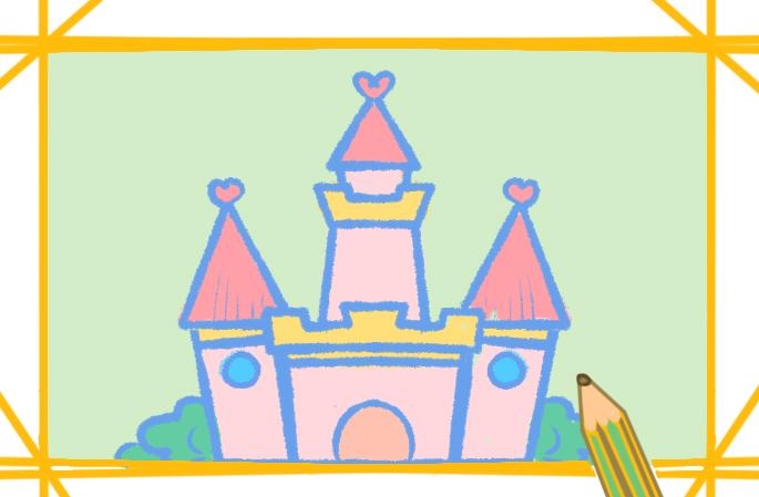 可愛的城堡簡筆畫圖片怎么畫