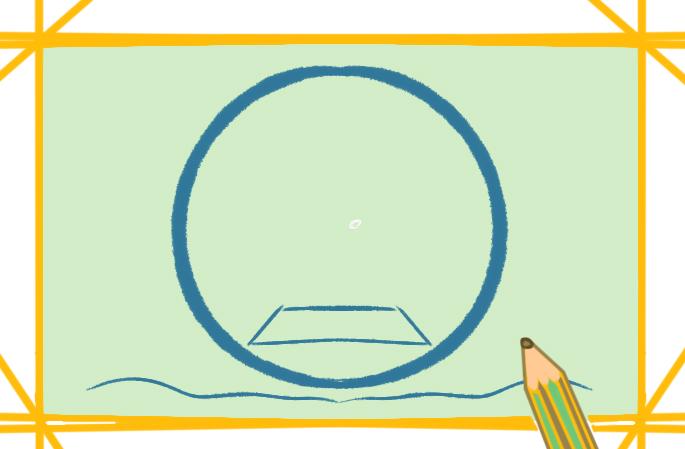 中秋节之月宫上色简笔画图片教程步骤