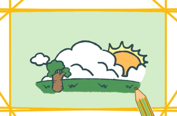晴朗的大太陽簡筆畫圖片怎么畫