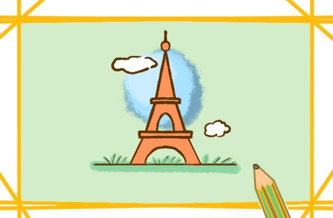 漂亮的埃菲爾鐵塔簡筆畫圖片怎么畫