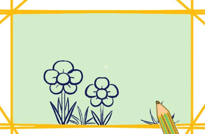 春天的景色简笔画图片怎么画