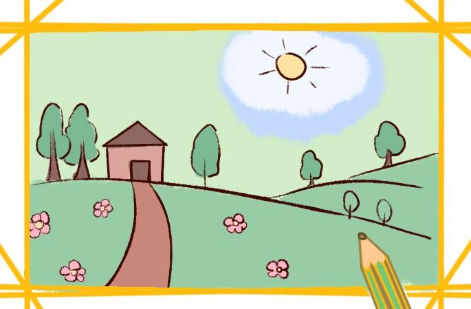 美丽的春天简笔画图片怎么画