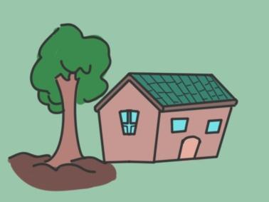 一間小房子上色簡筆畫要怎么畫