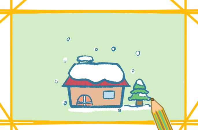 冬天下雪的场景怎么画