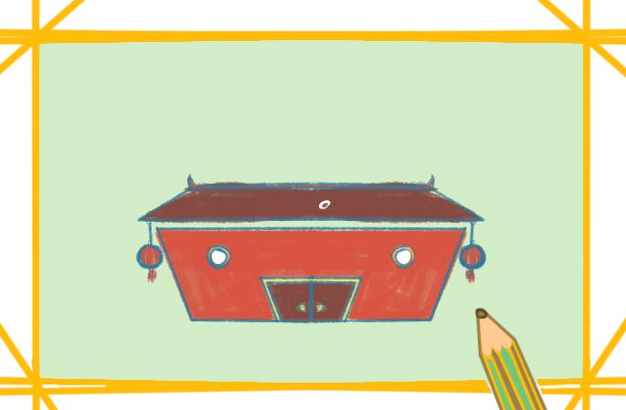 漂亮的老房子上色簡筆畫要怎么畫