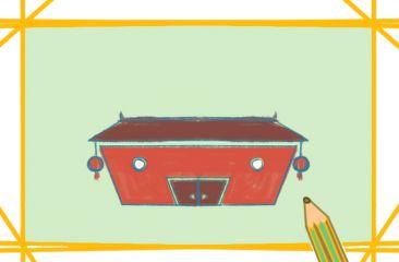 古老的紅房子上色簡筆畫要怎么畫