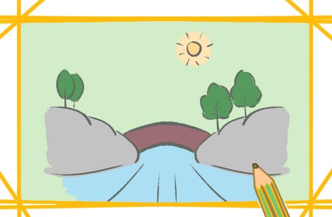 簡單的河流簡筆畫圖片怎么畫