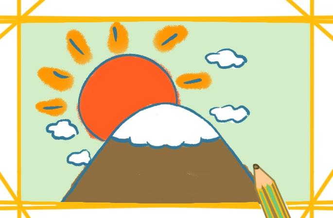 容易畫的富士山簡筆畫怎么畫