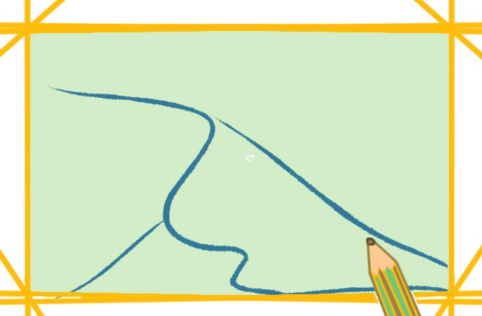 金灿灿的沙漠上色简笔画要怎么画
