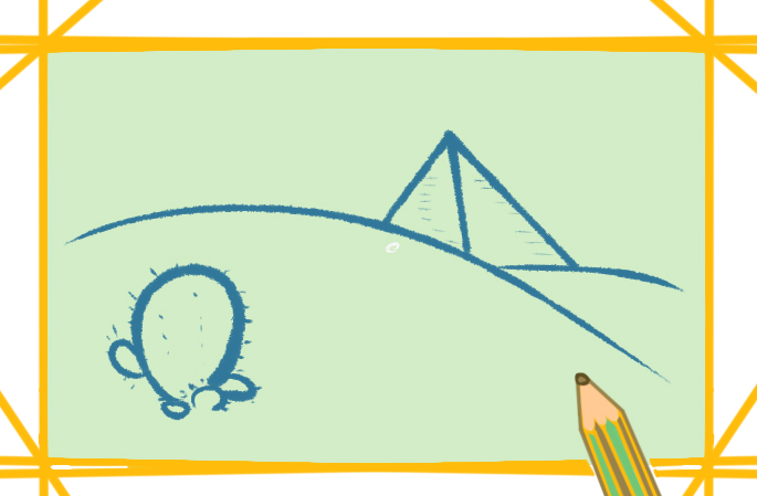 沙漠的金字塔上色简笔画要怎么画