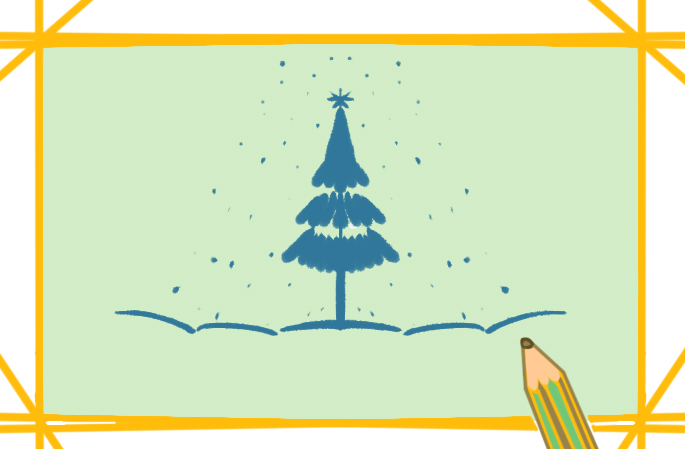 好看的圣诞节上色简笔画图片教程