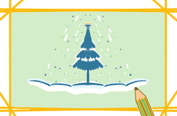 好看的圣誕節上色簡筆畫圖片教程