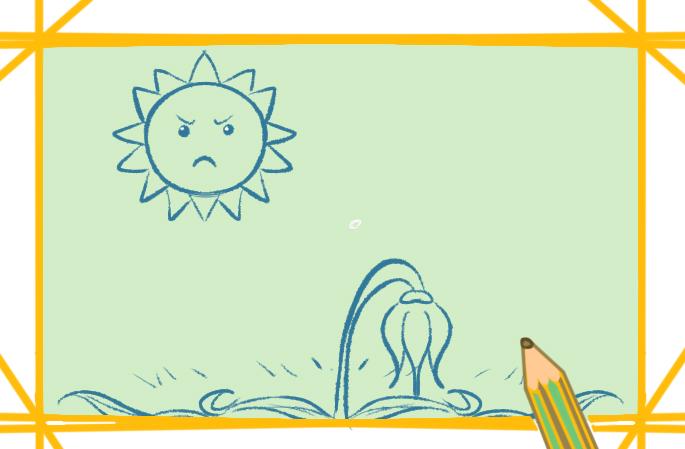 干旱的大地上色简笔画要怎么画