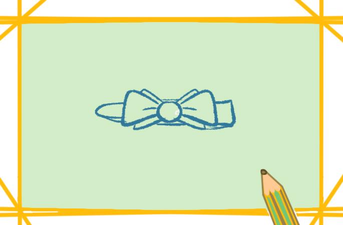 蝴蝶结发夹简笔画带颜色图片怎么画