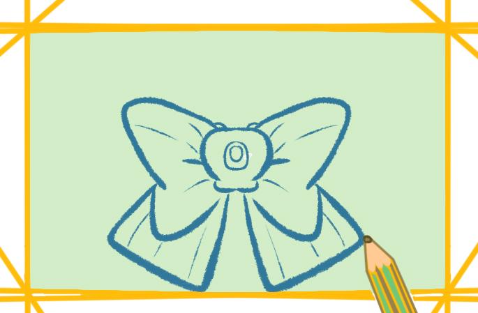 漂亮的蝴蝶结简笔画彩色教程好看简单