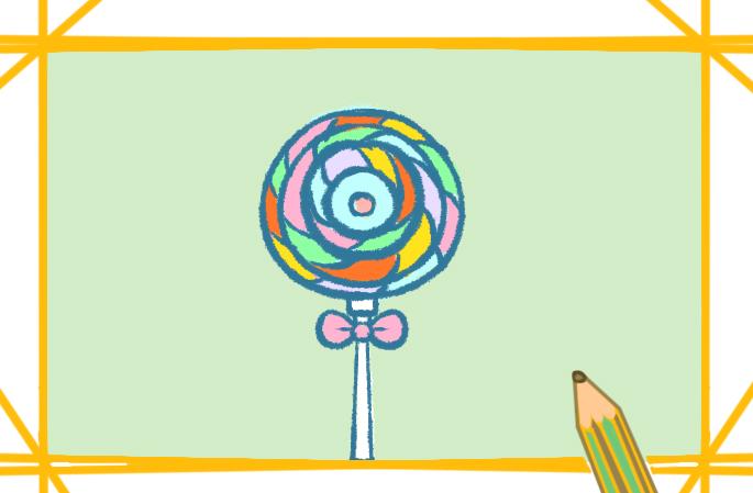 超可愛的棒棒糖怎么畫簡筆畫