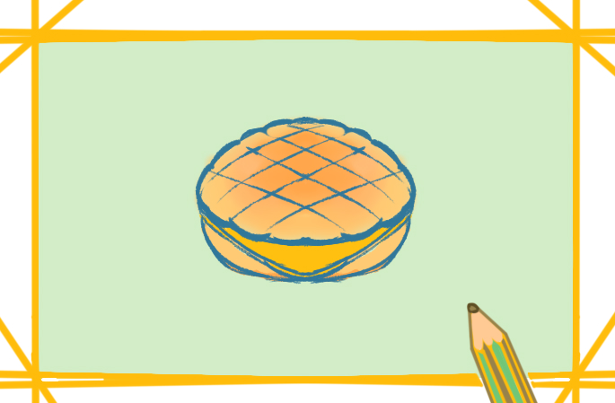 港式菠蘿包上色簡筆畫要怎么畫