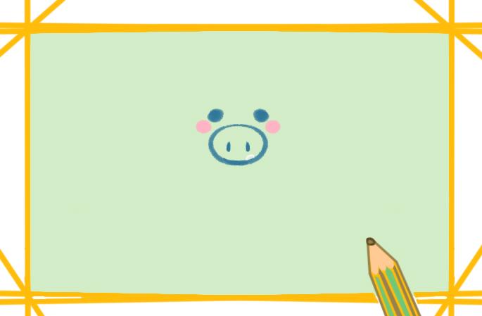 粉红小猪上色简笔画图片教程