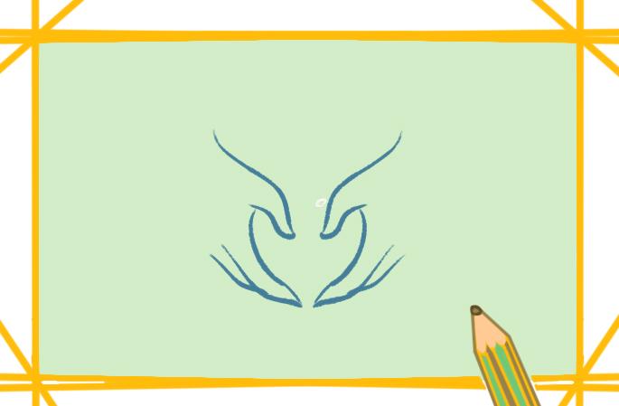双手比心上色简笔画图片教程